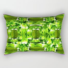 August Babies Peridots Birthstone Abstract Purple Design Rectangular Pillow