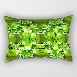 August Babies Peridots Birthstone Abstract Purple Design Rectangular Pillow