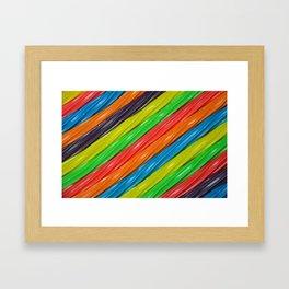Rainbow colors licorice Framed Art Print