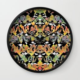 Inchworms Autumn Jazz Wall Clock