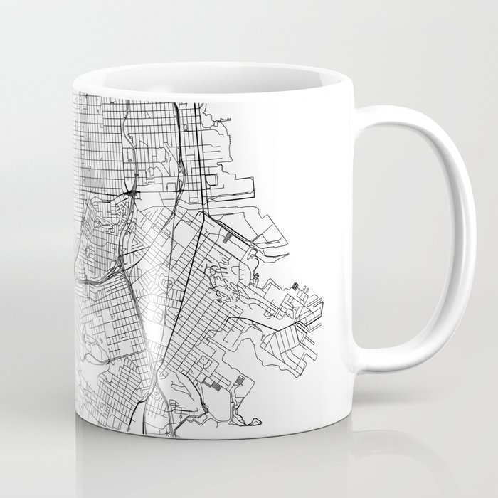 San Francisco White Map Coffee Mug