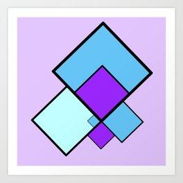 moving squares -11b- Art Print