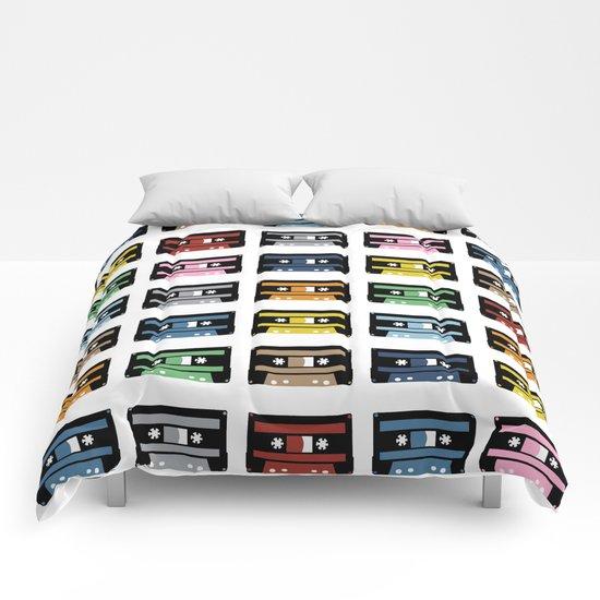 Rainbow Black Tapes Comforters