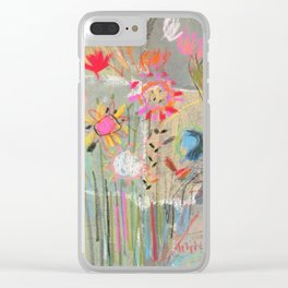 fresh pot of flowers for you Clear iPhone Case