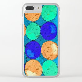 Circle of Colors 2 Clear iPhone Case