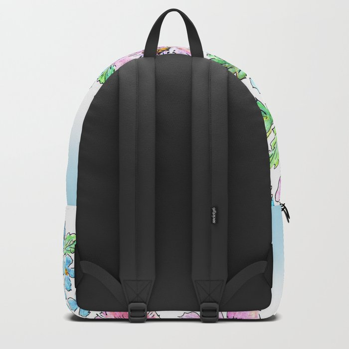 Colorful floral pattern . 1 Backpack