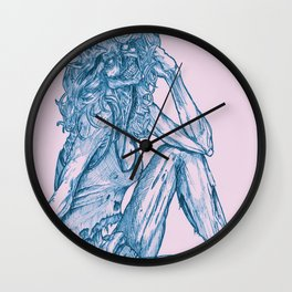 '70s Zombie Pinup Wall Clock