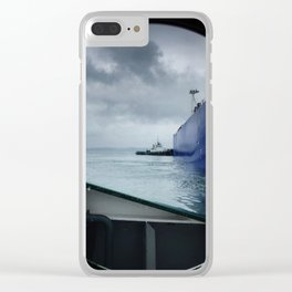 tug boat port hole Clear iPhone Case