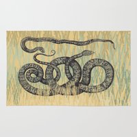 monty python Area & Throw Rugs featuring Python ~ The Summer Series by Mary Kilbreath