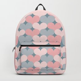 Heart pattern. Pink and gray Backpack