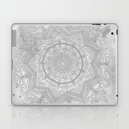 gray splash mandala swirl boho Laptop & iPad Skin