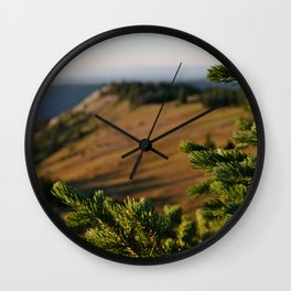Sunrise over Medicine Bow Wall Clock
