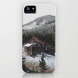 Snowy Cabin iPhone Case
