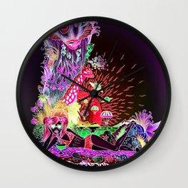 L - deep violet Wall Clock