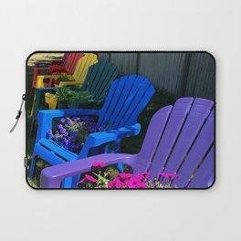 Rainbow Beach Chairs in Ptown Laptop Sleeve