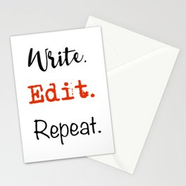 Write. Edit. Repeat. Stationery Cards
