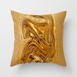 Curvaceous 3 ......flowing liquid color....original art Throw Pillow
