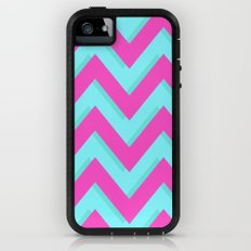 3D CHEVRON TEAL & PINK Adventure Case iPhone (5, 5s)