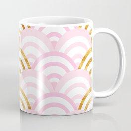 Pink and Gold Mermaid Scallops Coffee Mug