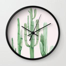 Three Amigos Pink + Green Wall Clock