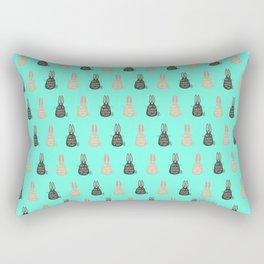 Not Subject, Hopping Fluff! Rectangular Pillow