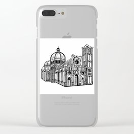 Florence Duomo Drawing Clear iPhone Case