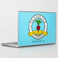 dwight Laptop & iPad Skins featuring Schrute Farms | The Office - Dwight Schrute by Silvio Ledbetter