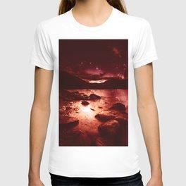 Magical Mountain Lake Red Planet T-shirt