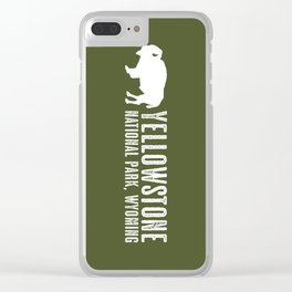 Bison: Yellowstone National Park Clear iPhone Case