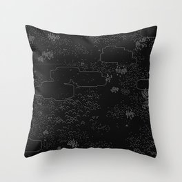 land of 15 towns and a cemetary · negative ⎌ Throw Pillow