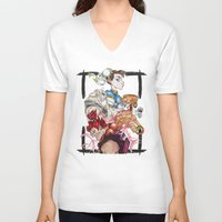 street fighter V-neck T-shirts featuring Street Fighter by Mazuki Arts
