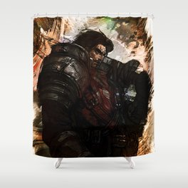 League of Legends GAREN Shower Curtain