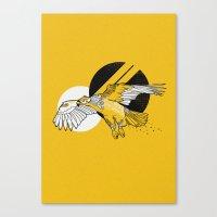 hawk Canvas Prints featuring Hawk by Randyotter