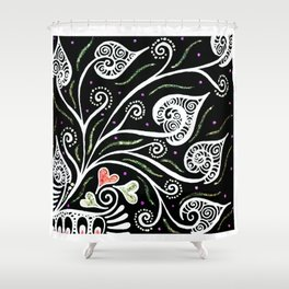 Night Blooming Shower Curtain