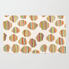 watercolor geometric lines Rug