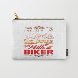 In love with a Biker Carry-All Pouch