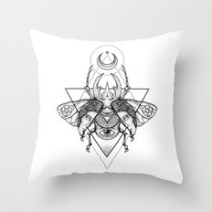 Occult Beetle II Throw Pillow
