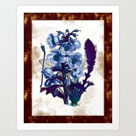 Black Light Botany Art Print