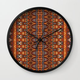 Boho Geometric Pattern 11 Wall Clock