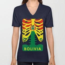 BOLIVIA X-RAYS BLK Unisex V-Neck