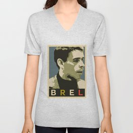 Jacques Brel Unisex V-Neck
