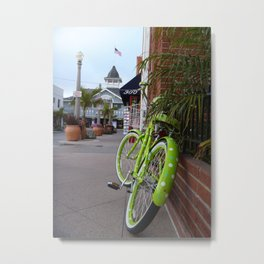 The Green Bike Metal Print