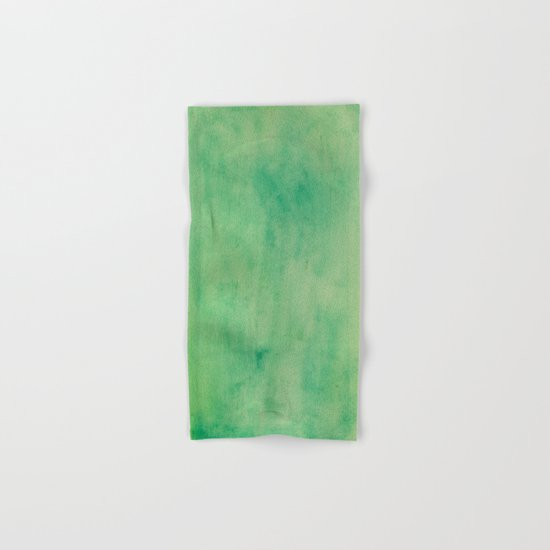 MINT GREEN WATERCOLOR BACKGROUND.  Hand & Bath Towel