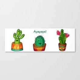 Ayayaye Cactus Trio Canvas Print