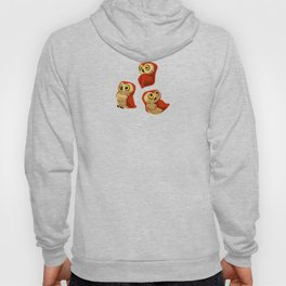 Northern Saw-whet owls pattern. Hoody