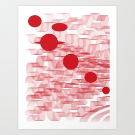 red planets Art Print