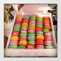 macaroons Canvas Prints featuring Macaroons by Mia Kellman