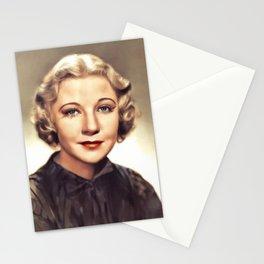 Una Merkel, Vintage Actress Stationery Cards
