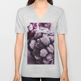 BlackBerries and Lilac 02 Unisex V-Neck