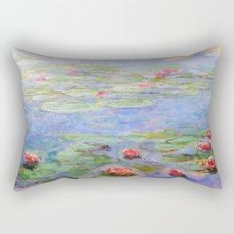 Claude Monet's Water Lilies Rectangular Pillow